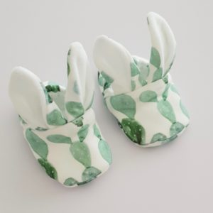 Chaussons lapin cactus