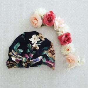 Turban viscose fleuri
