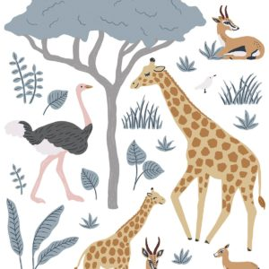 Stickers muraux animaux sauvages