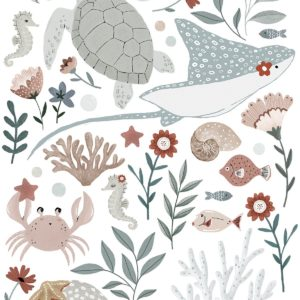 Stickers muraux animaux marins